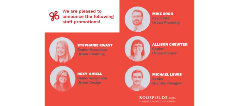 bousfields promotions 2018
